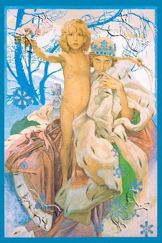 Alfons Mucha's 'Snow Queen and Child'
